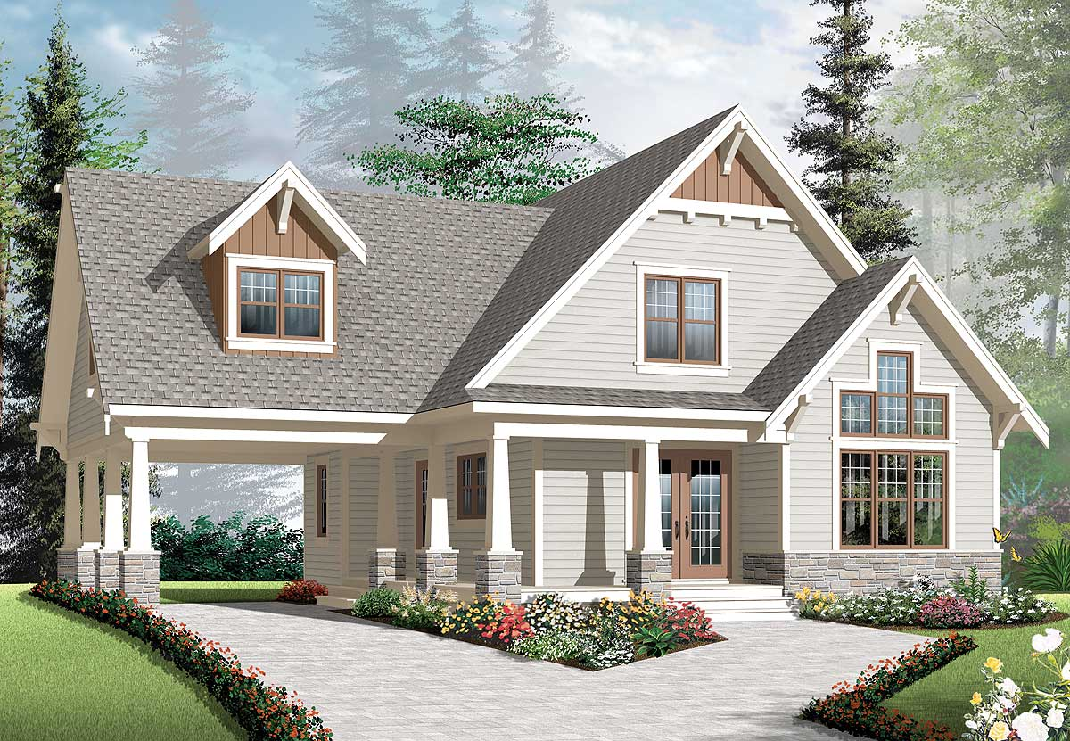 Craftsman House Plans with Carports