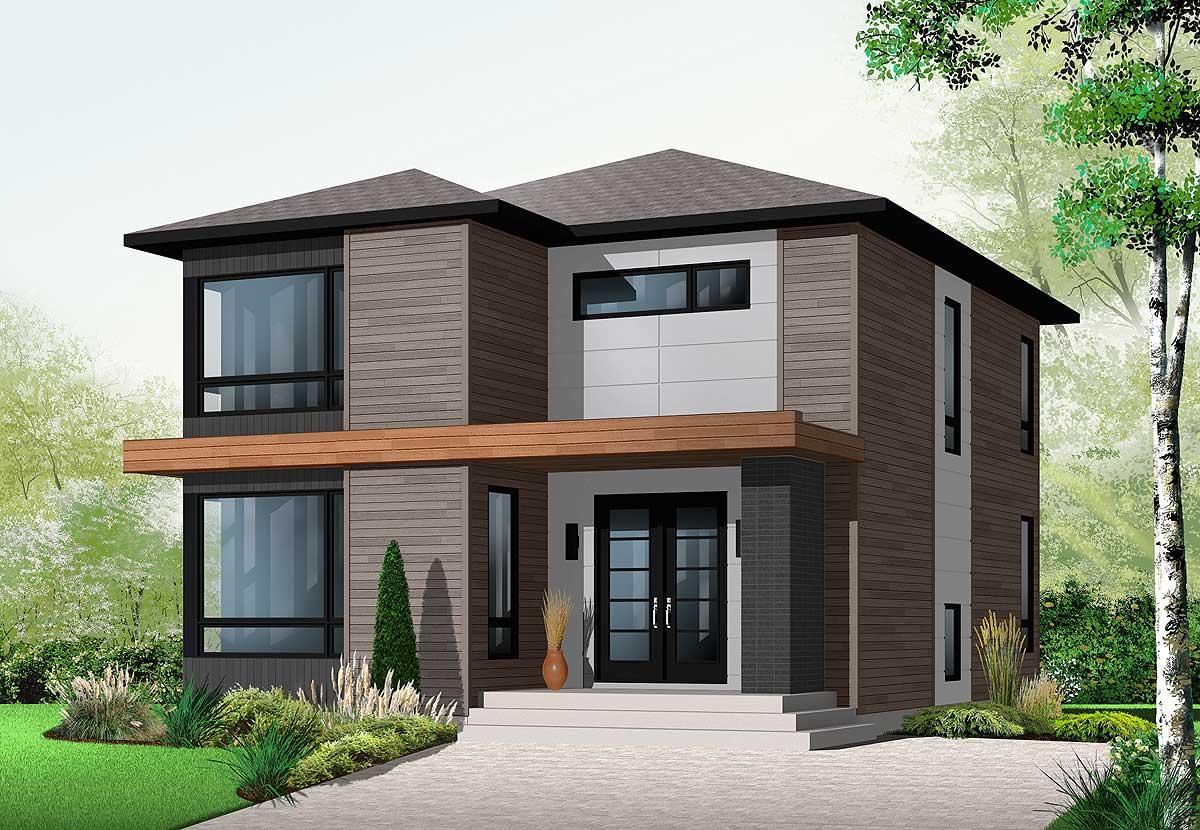 Stately Modern - 21998dr Architectural Design House Plans