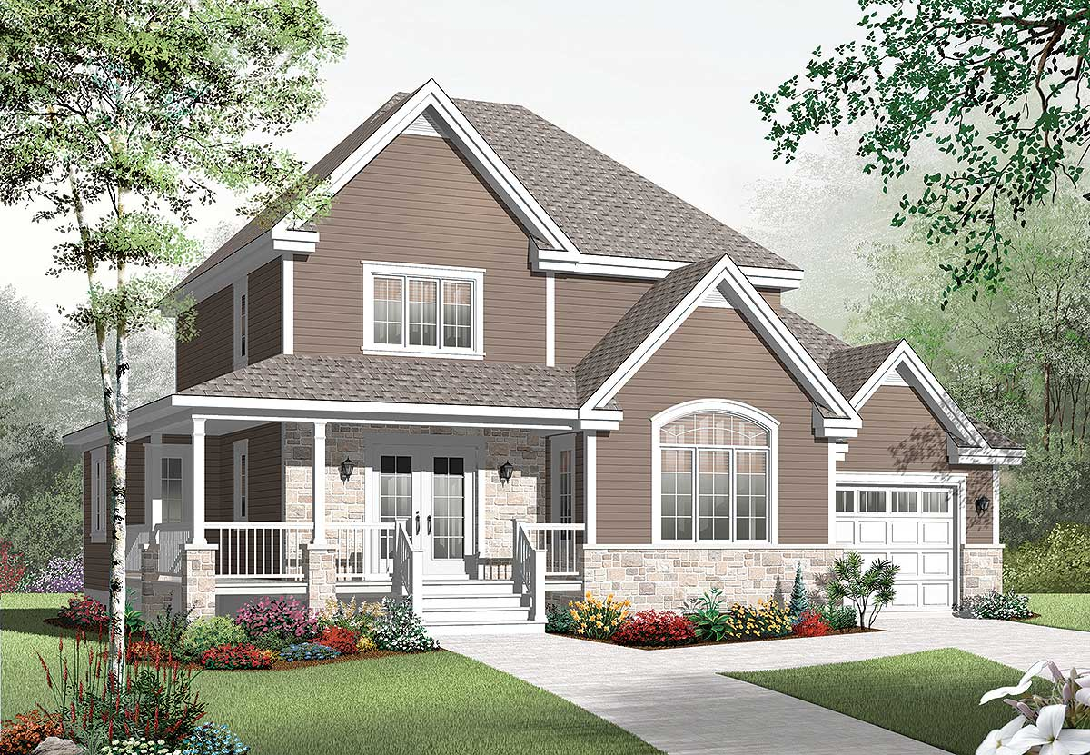 Country House Plans with Wrap around Porch