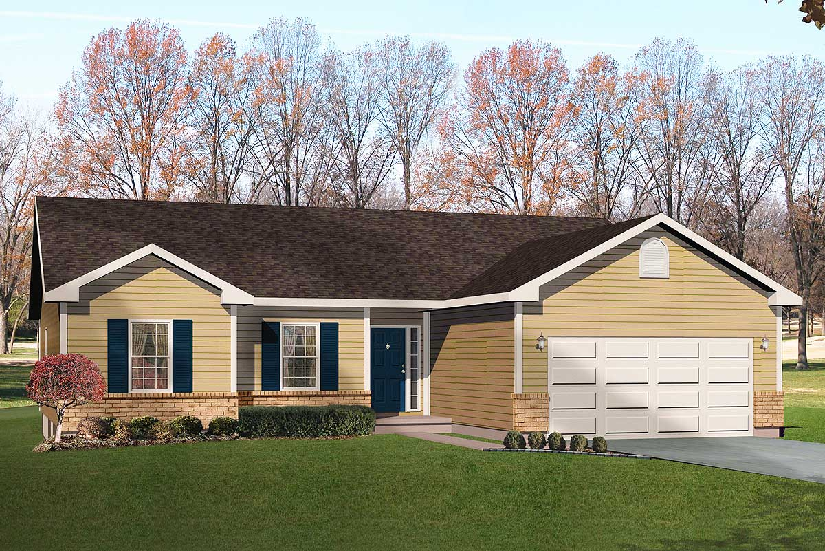 Simple Ranch With Vaulted Family Room - 22000sl