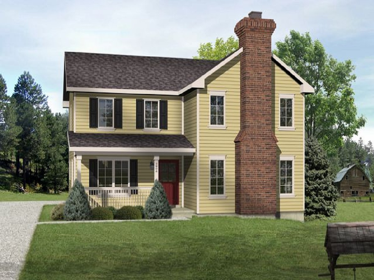 Great Narrow Lot - 22091sl Architectural Design