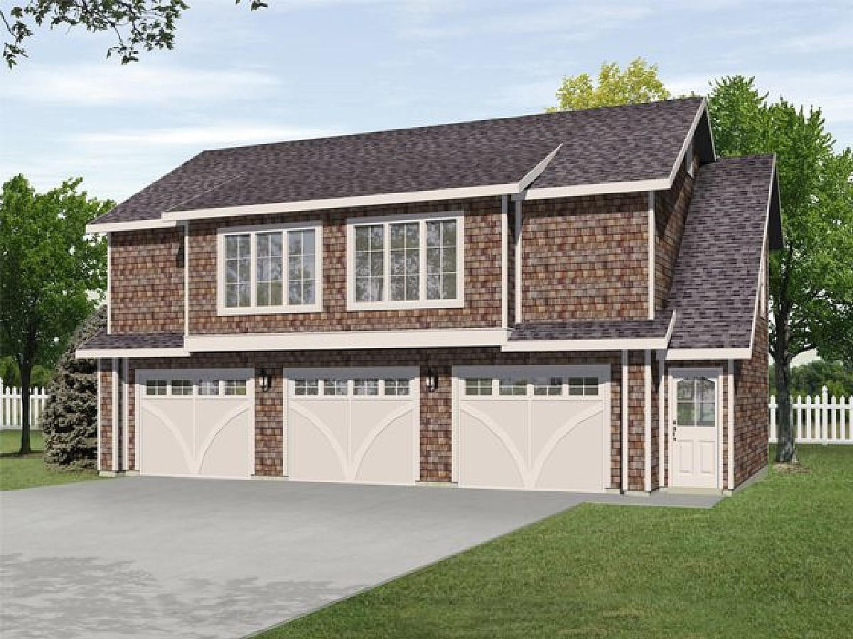 House Plans 3 Car Garage with Apartment