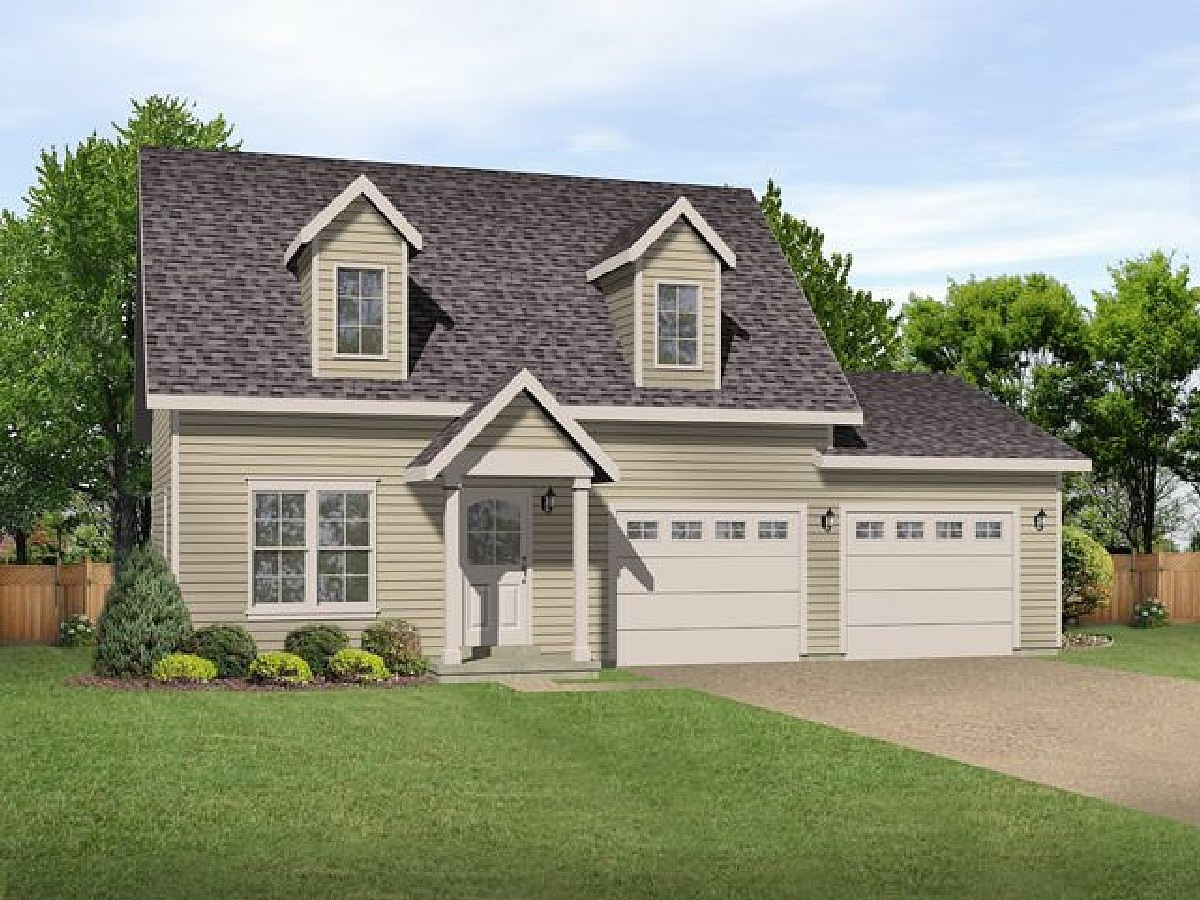 Small House Plans with Detached Garage