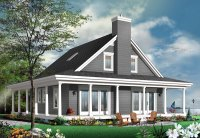4 Bedroom Country House Plan with Wrap-Around Porch ...