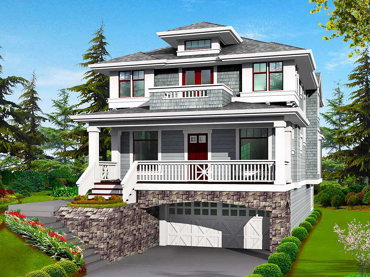 Classic Craftsman Styling with DriveUnder Garage