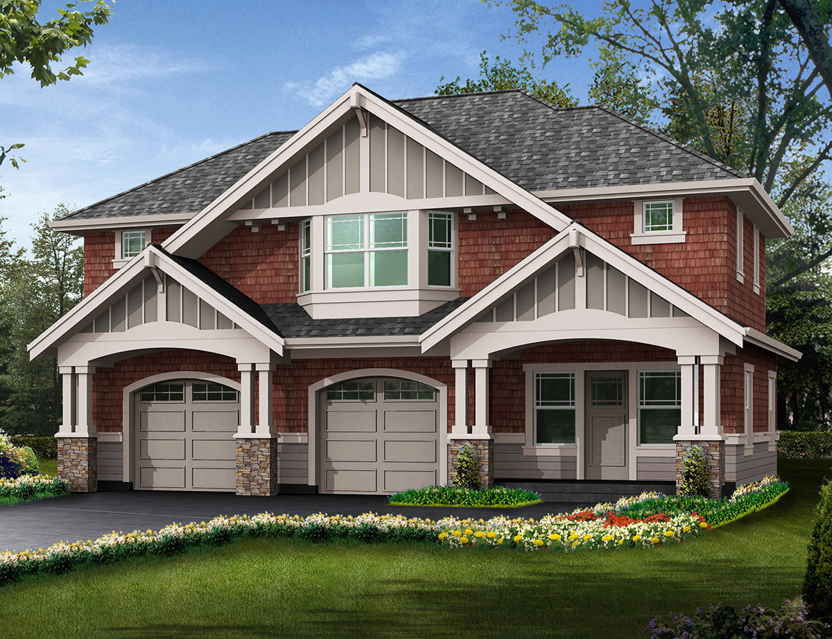 House Plans with Detached Garage