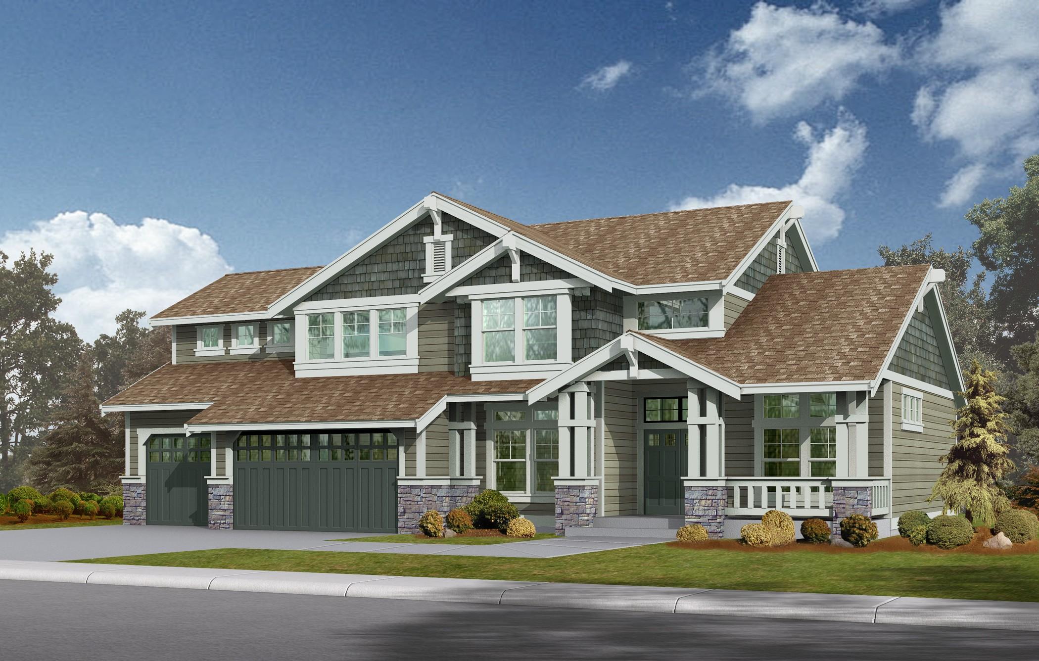 Northwest Style Craftsman House Plan