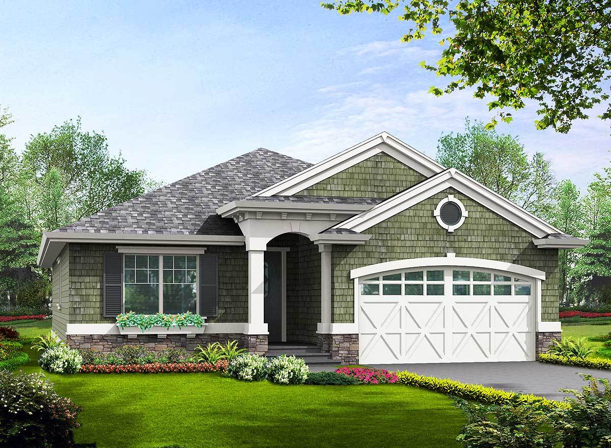 Craftsman STYLE NARROW Lot House Plans with Garage