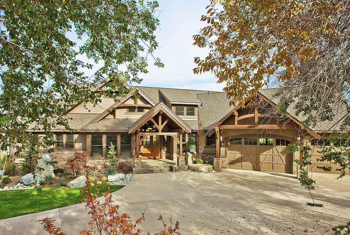 Luxury Craftsman With Front- Views - 23284jd