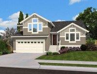 Split Level Home Plan for Narrow Lot