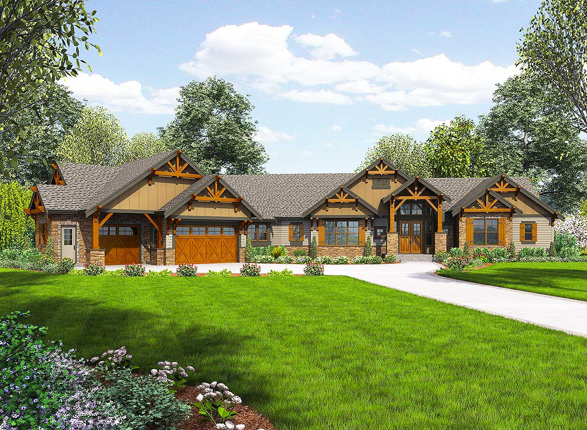 One Story Ranch House Plans