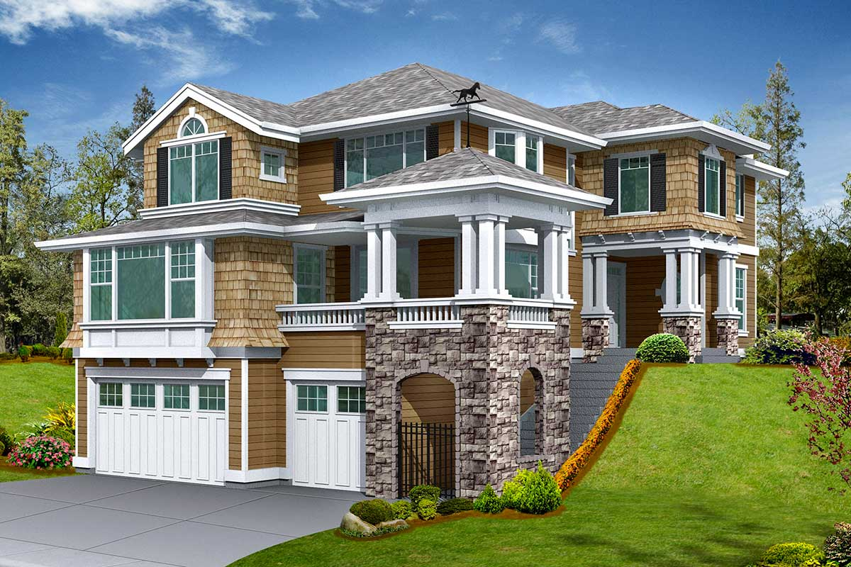 House Plan with Drive Under Garage