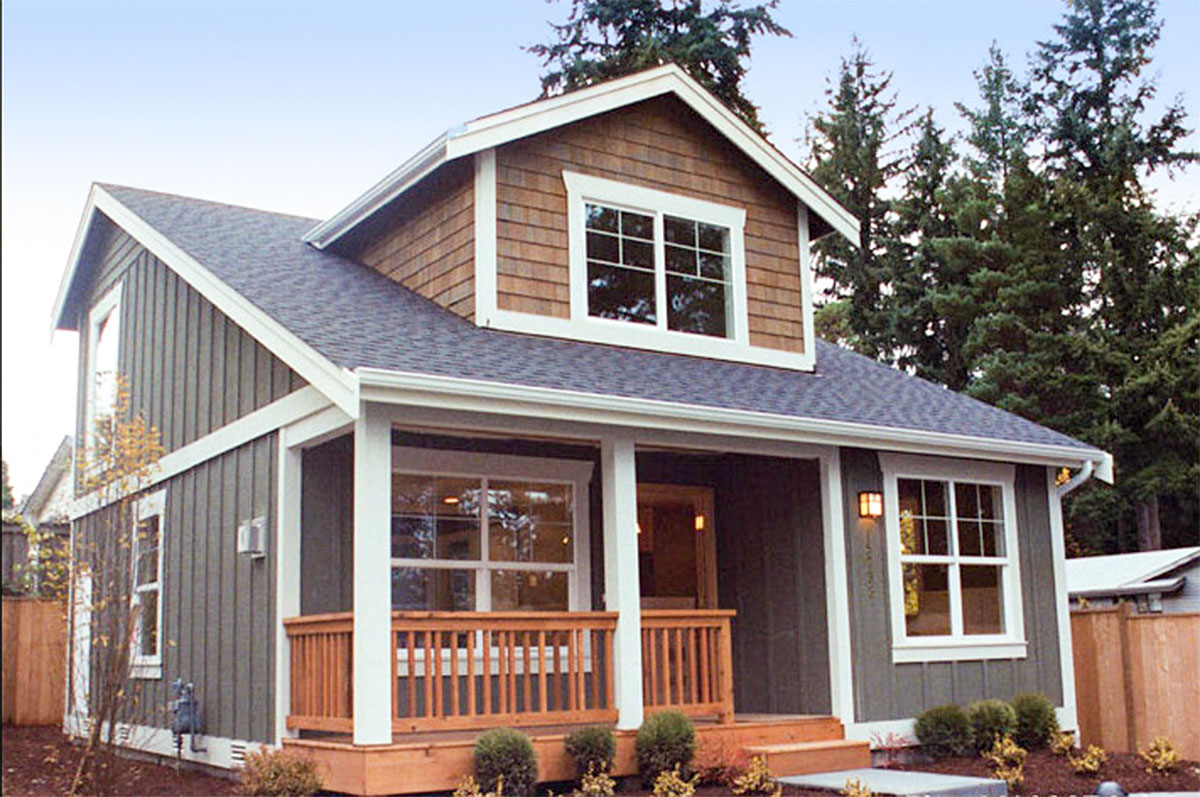 Small House Plan With Two Exterior Choices 2395jd