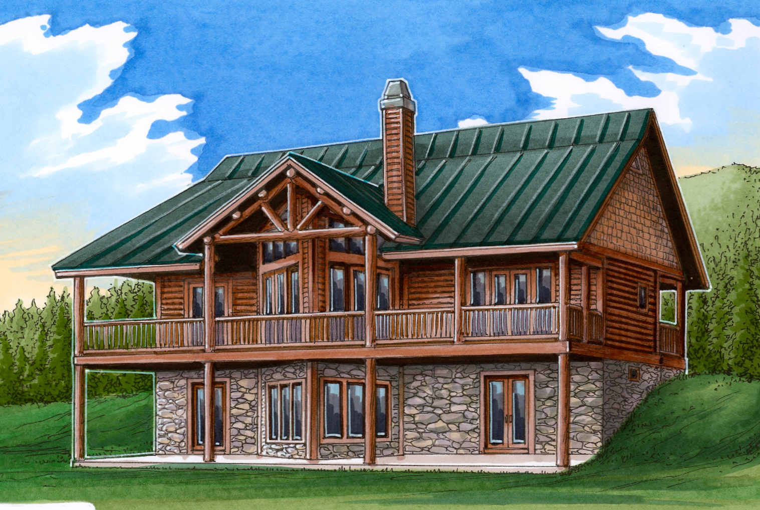 Vaulted Great Room  24110BG  Architectural Designs  House Plans