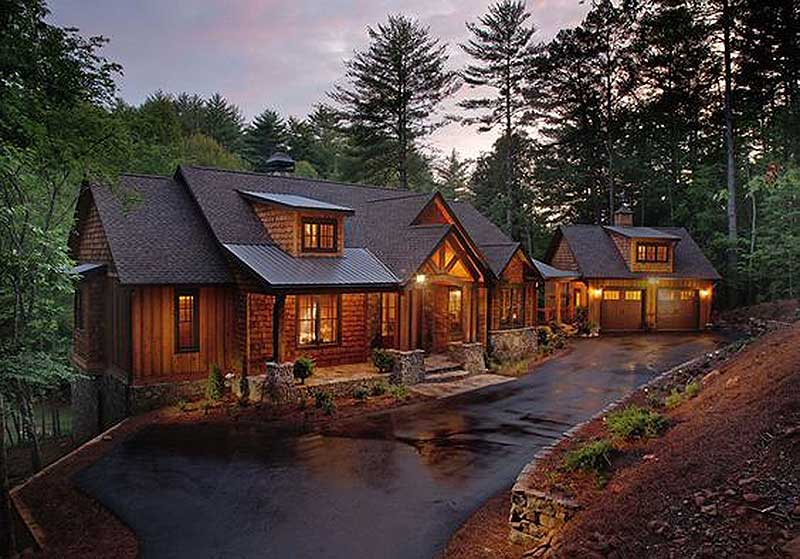 Splendid Mountain Home Plan  24111BG  Architectural