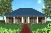 Classic Southern with a Hip Roof - 2521DH | Architectural ...