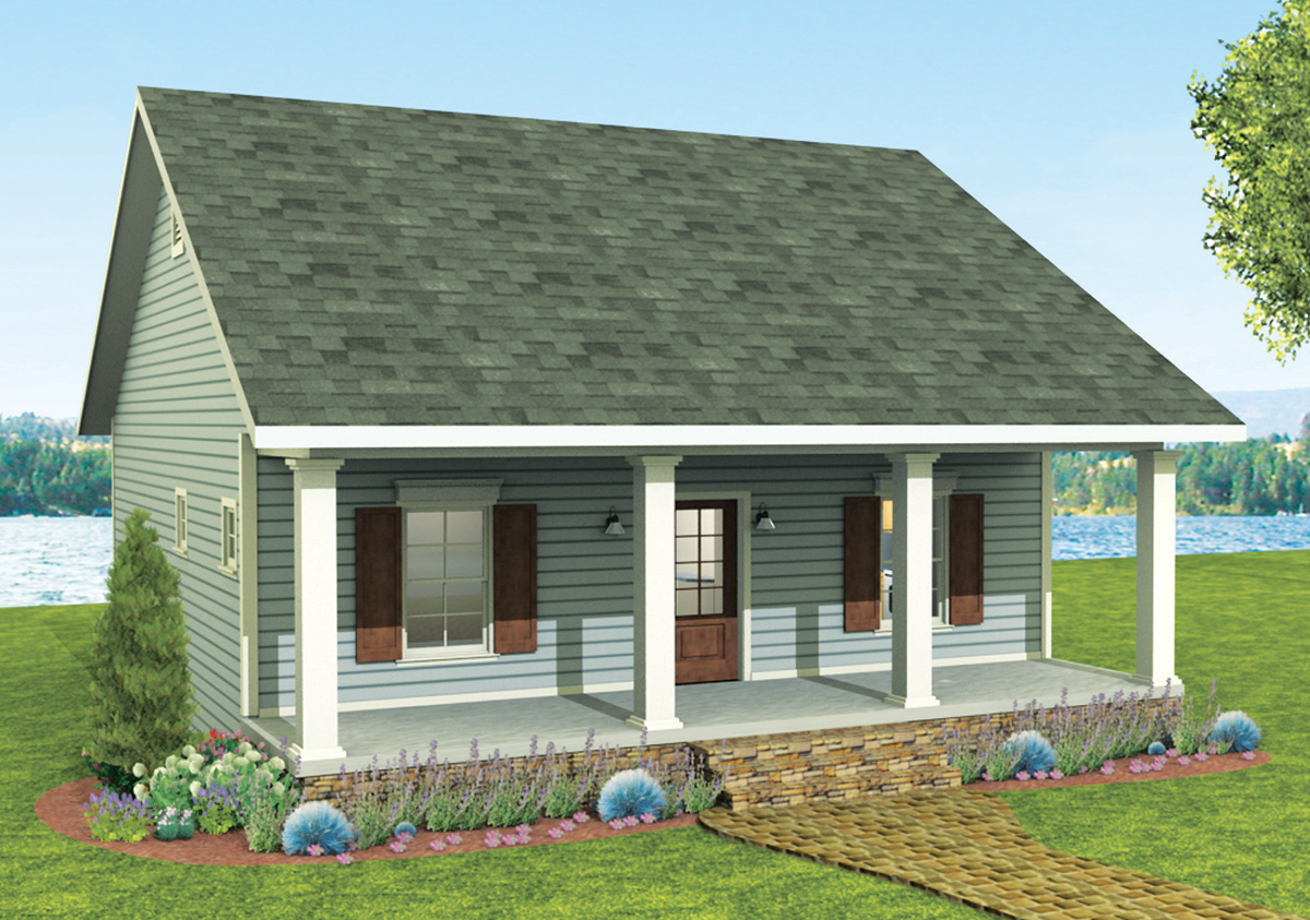 Cozy 2 Bed Cottage House Plan - 2596dh 1st Floor Master