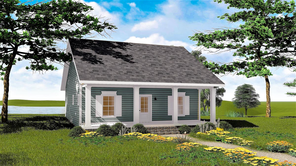 Cozy 2 Bed Cottage House Plan 2596dh Architectural