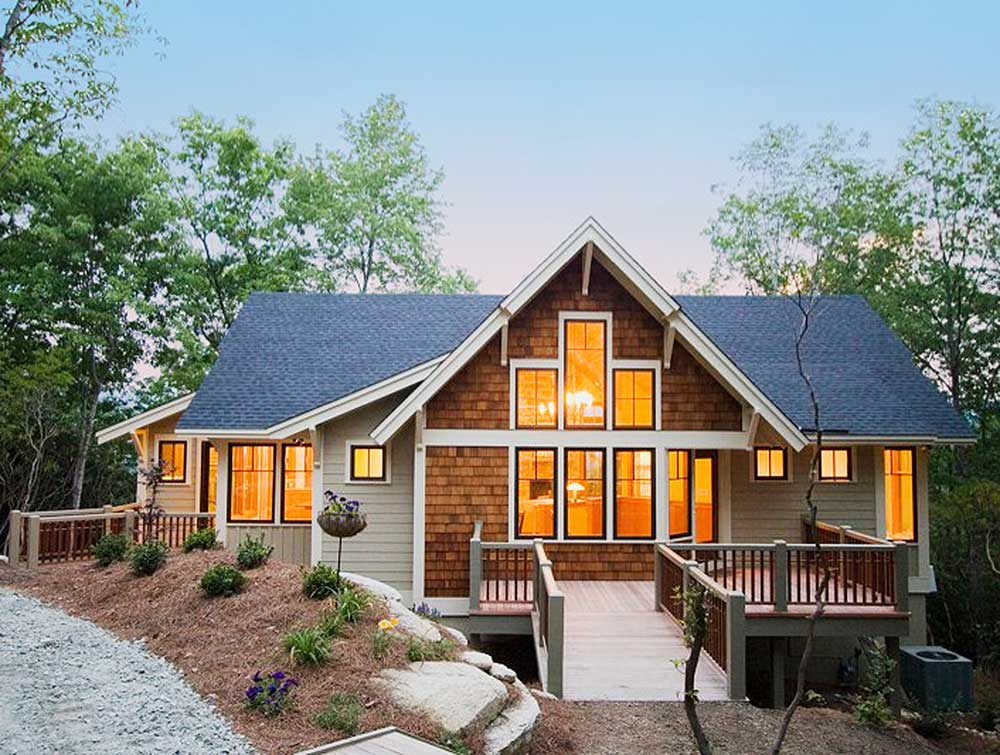 Popular Mountain Home Plan 26666GG Architectural