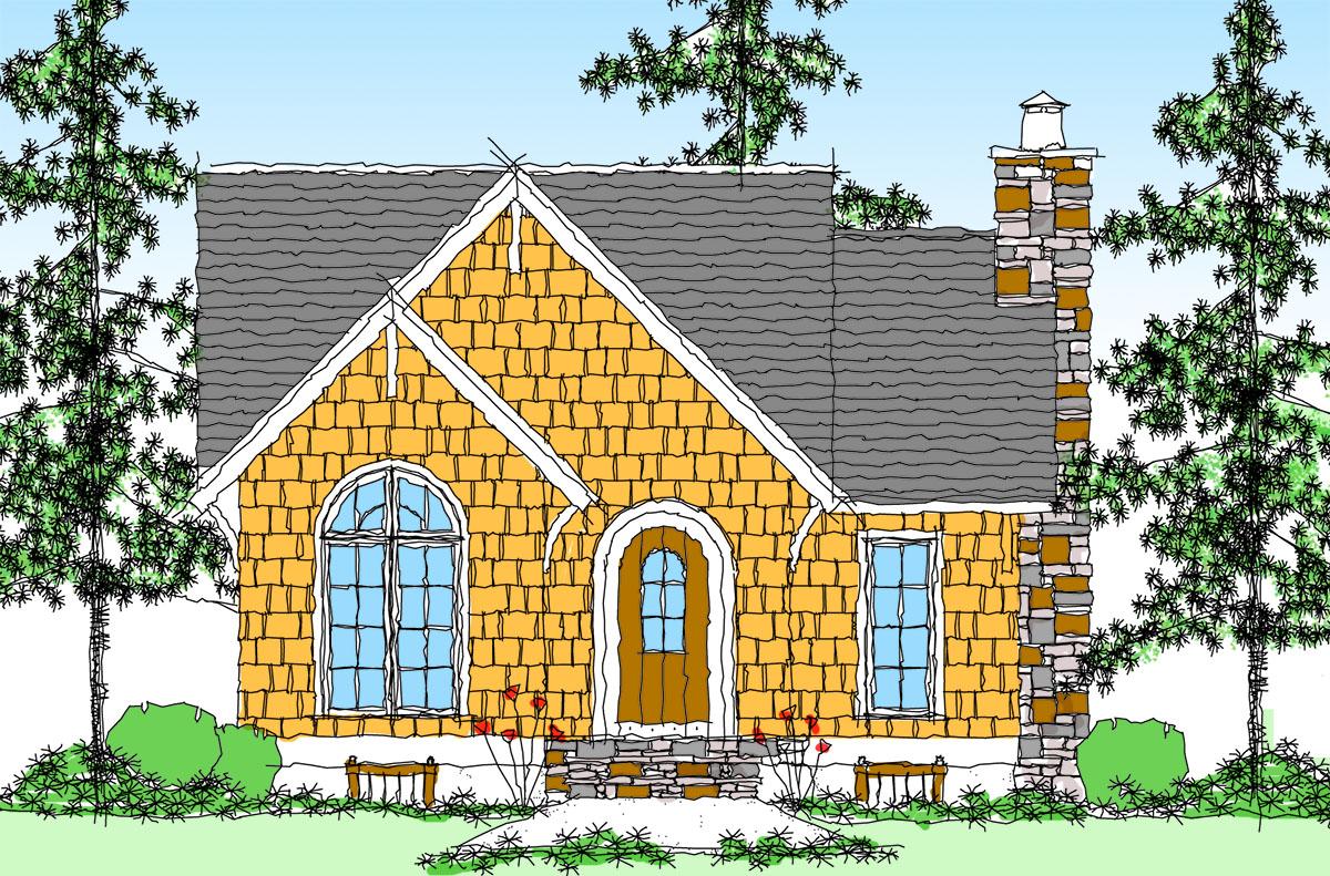 Itty Bitty Cottage Home Plan 26671gg 1st Floor Master