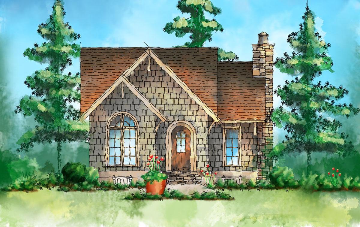 Itty Bitty Cottage House Plan 26673gg 1st Floor Master