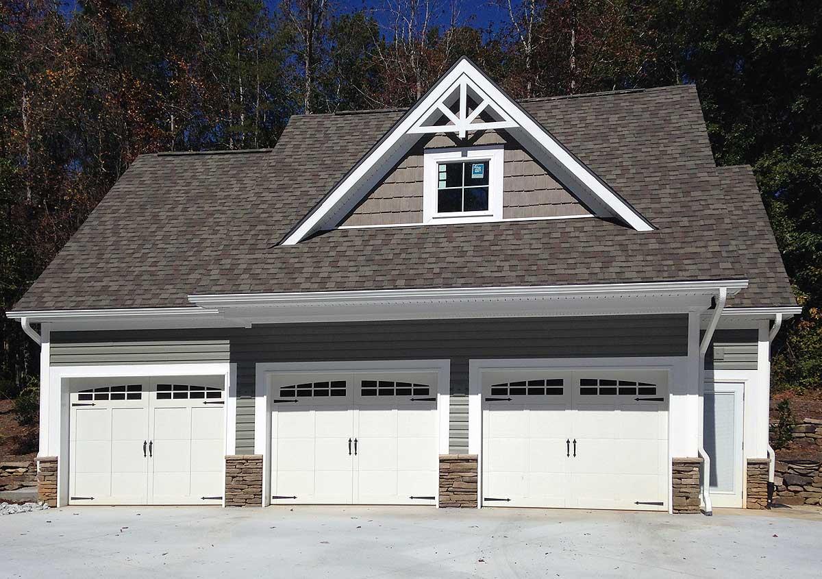 Rustic 3-Bay Guest House Plan - 29839RL