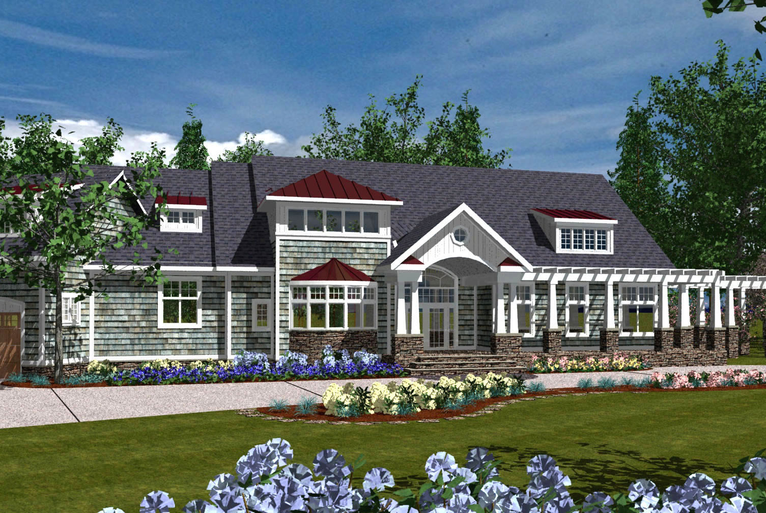 Luxurious Shingle Home Plan