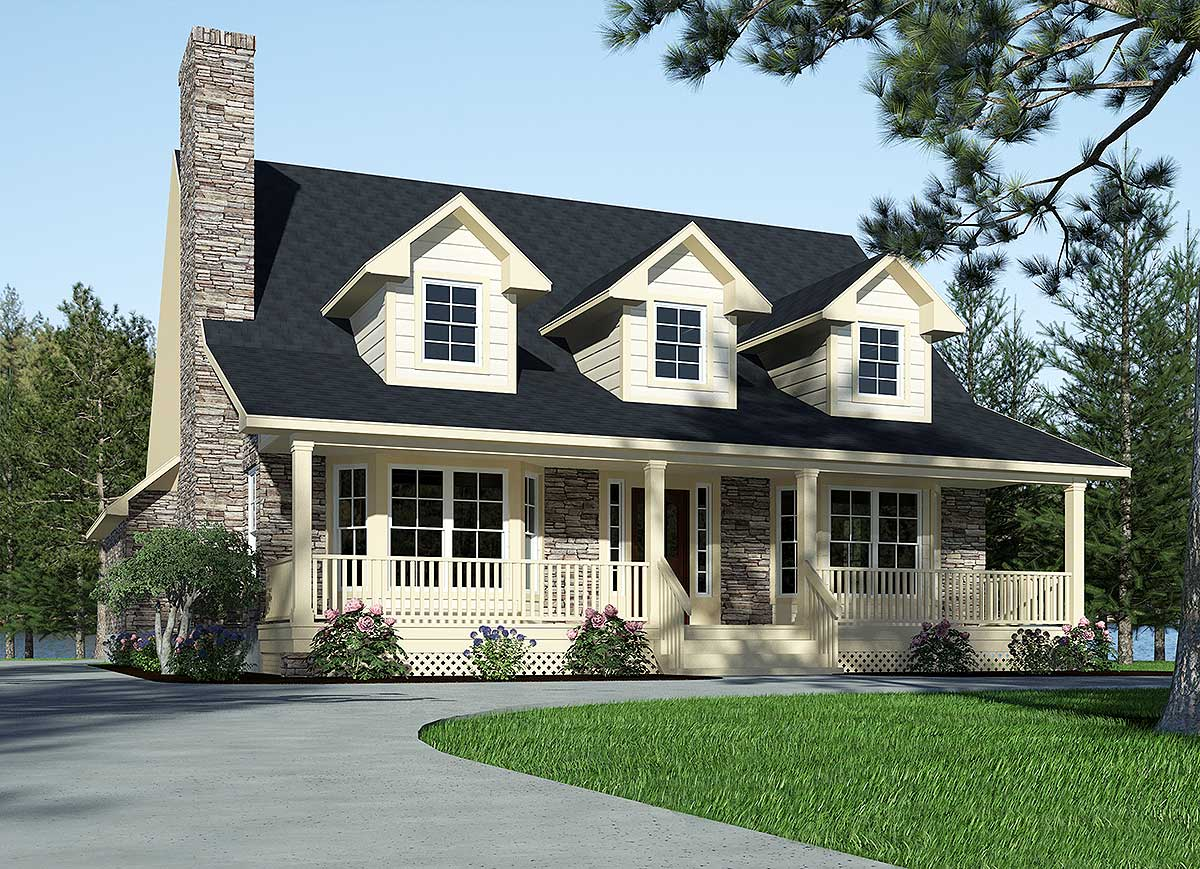 Refined Country Home Plan - 3087D