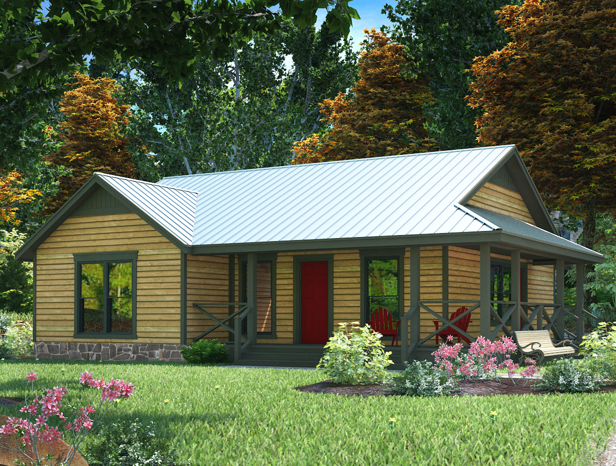 Compact Country-style Home Plan - 31052d 1st Floor