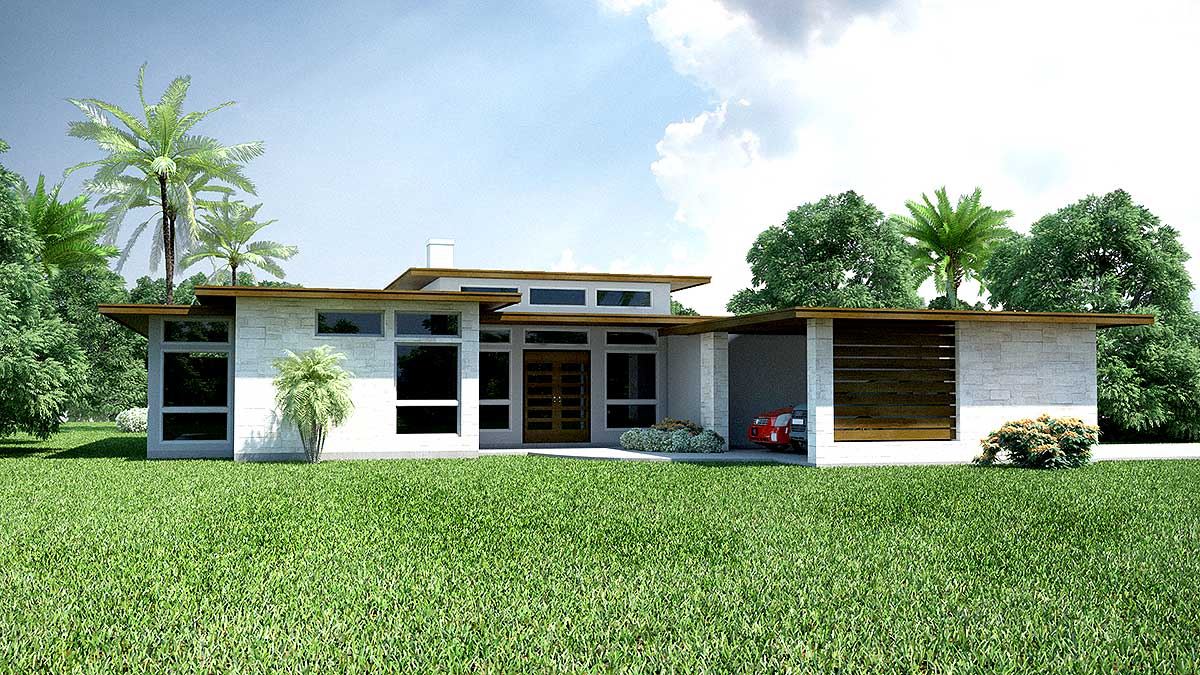 3 Bed Modern Ranch House Plan 31186d Architectural