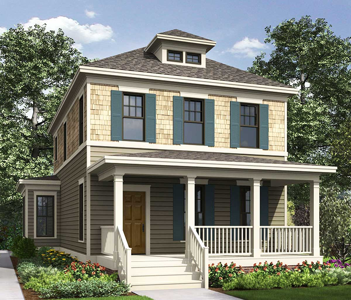 American Foursquare House Plans