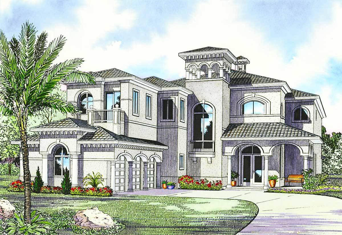 Home Luxury Mediterranean House Plans Designs