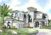 Luxury Mediterranean House Plan - 32058AA | Architectural ...