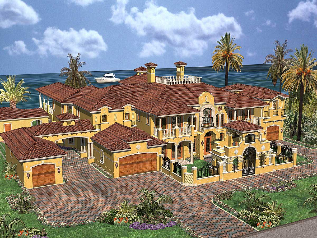 Luxury Spanish Estate - 32071aa Architectural Design