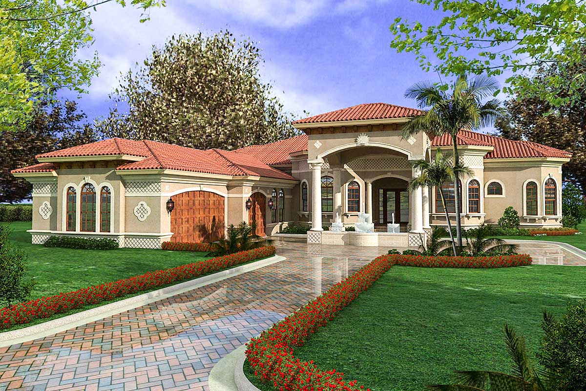 Florida One Story House Plans