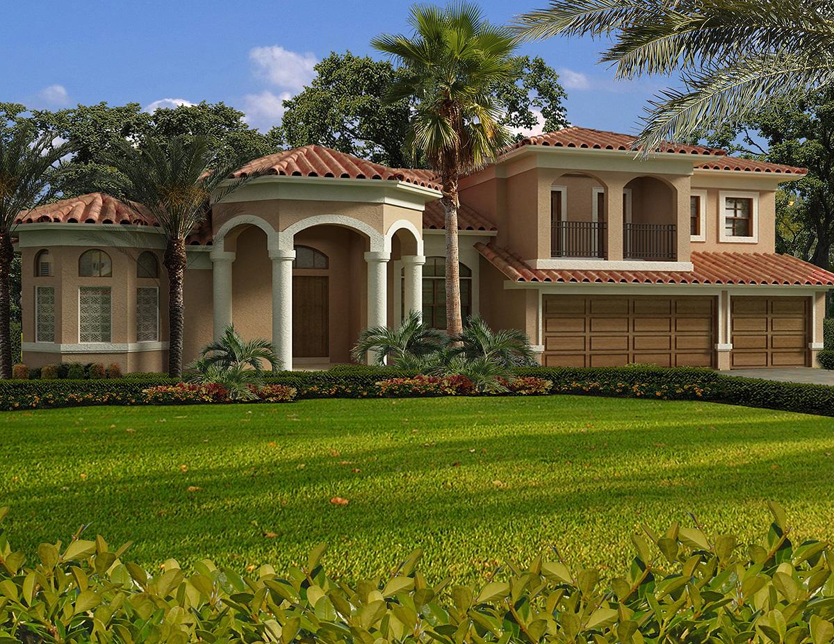 Luxury Mediterranean House Plan - 32198aa Architectural