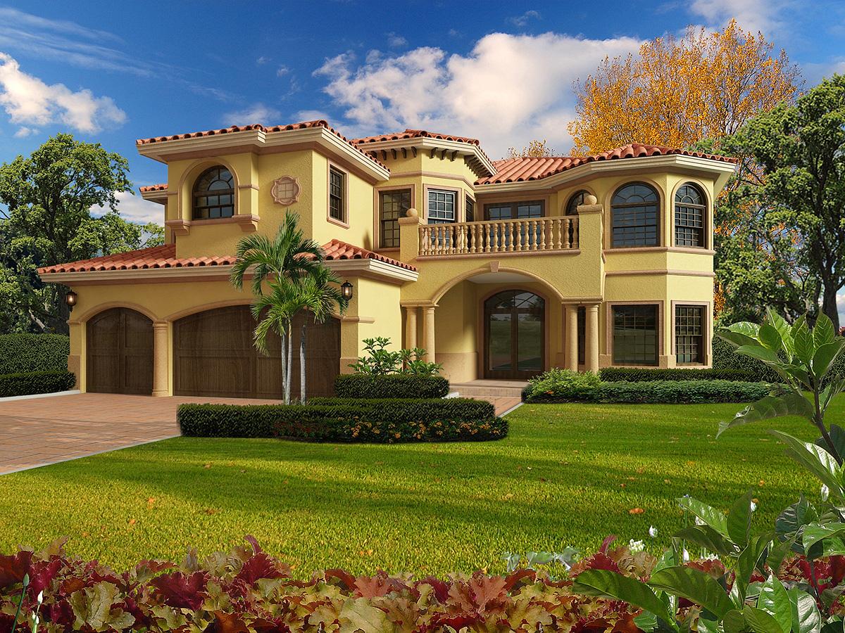 Mediterranean Luxury - 32200aa Architectural Design