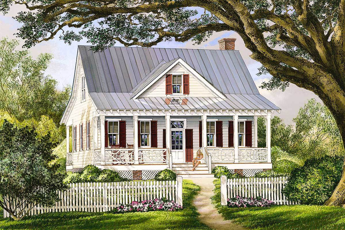House Plans with Front and Back Porches