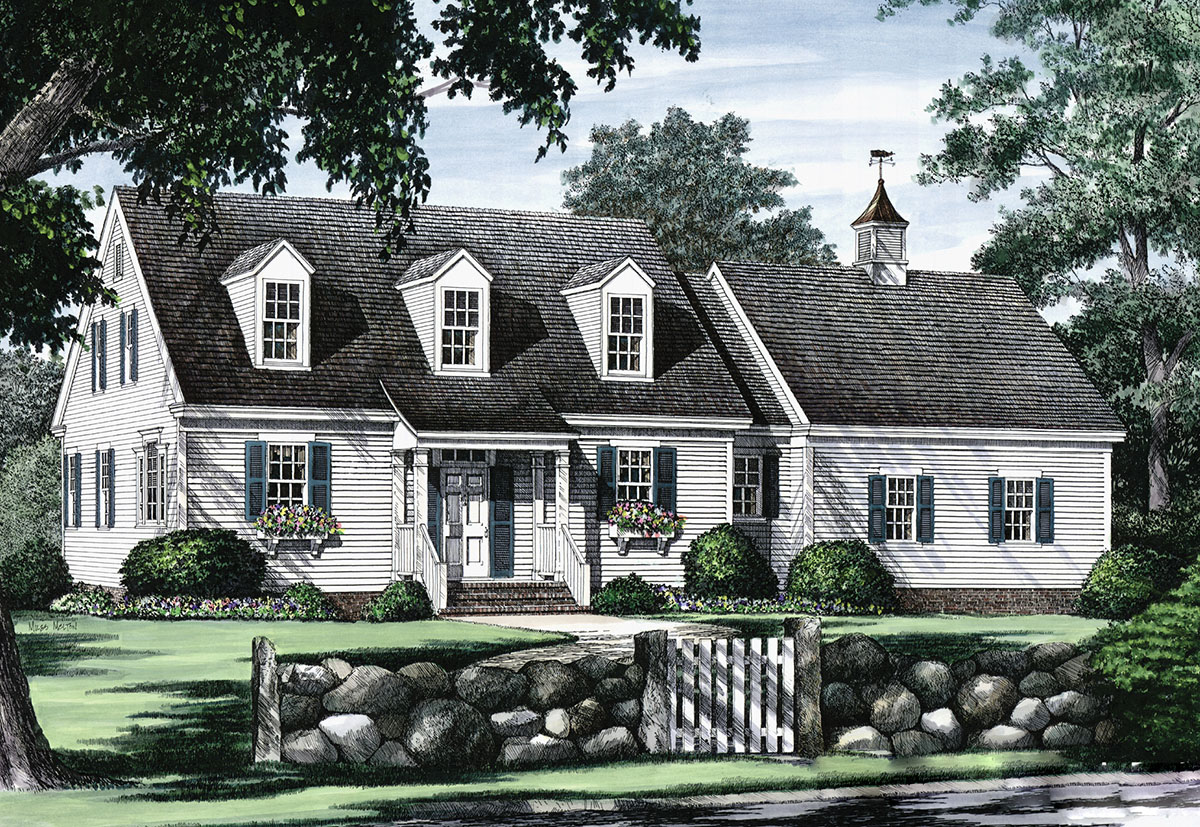 Traditional Cape Cod House Floor Plans
