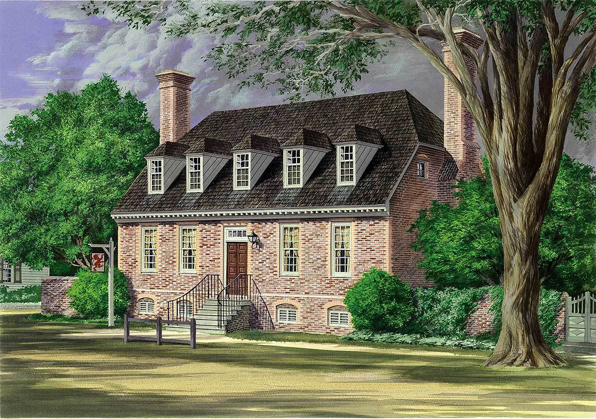 Colonial House Plans with Dormers