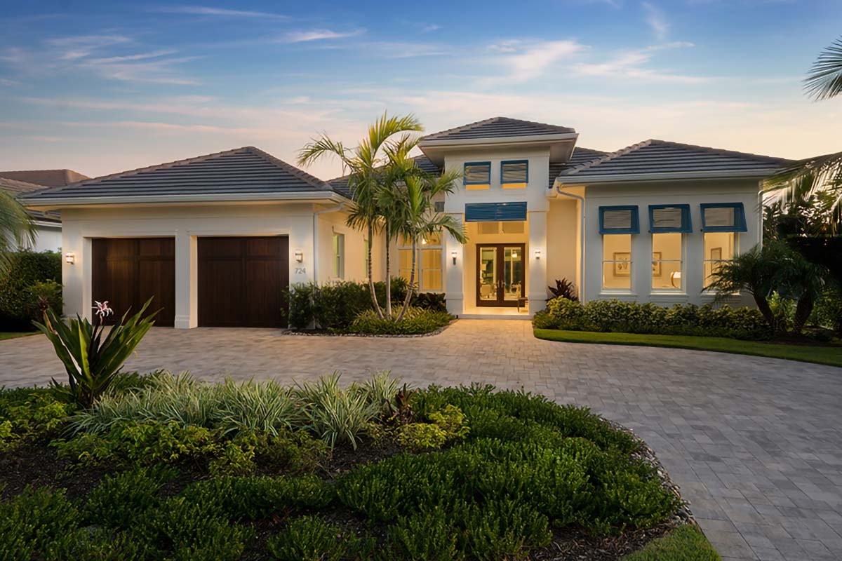 Florida House Plan With Indoor Outdoor Living - 86023bw