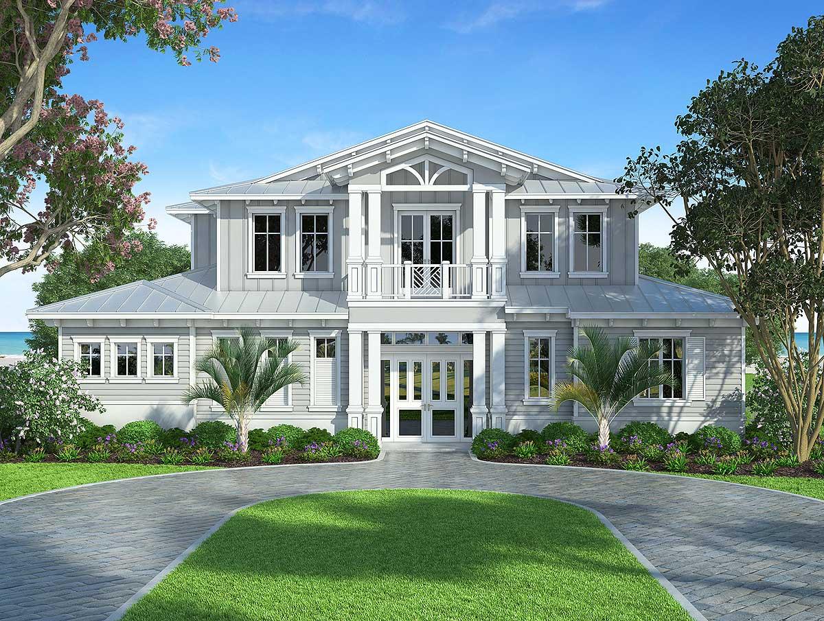 Coastal Old Florida Style House Plans