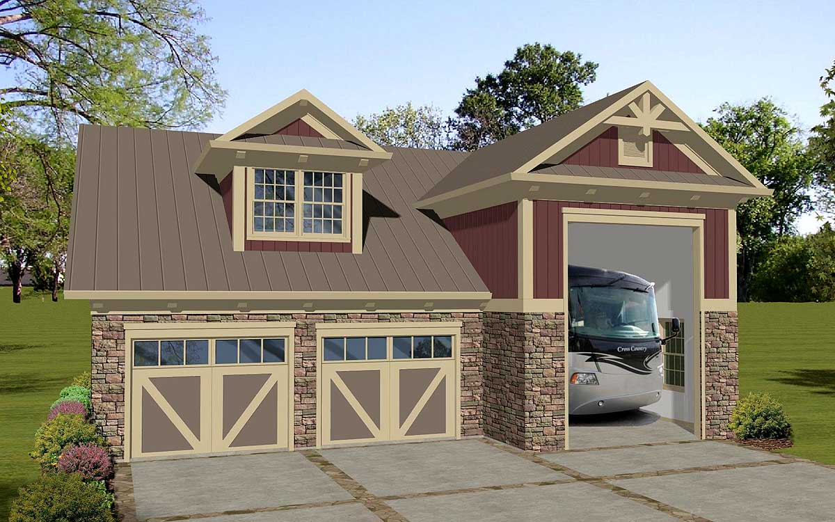 Carriage House Apartment with RV Garage  20128GA  Architectural Designs  House Plans