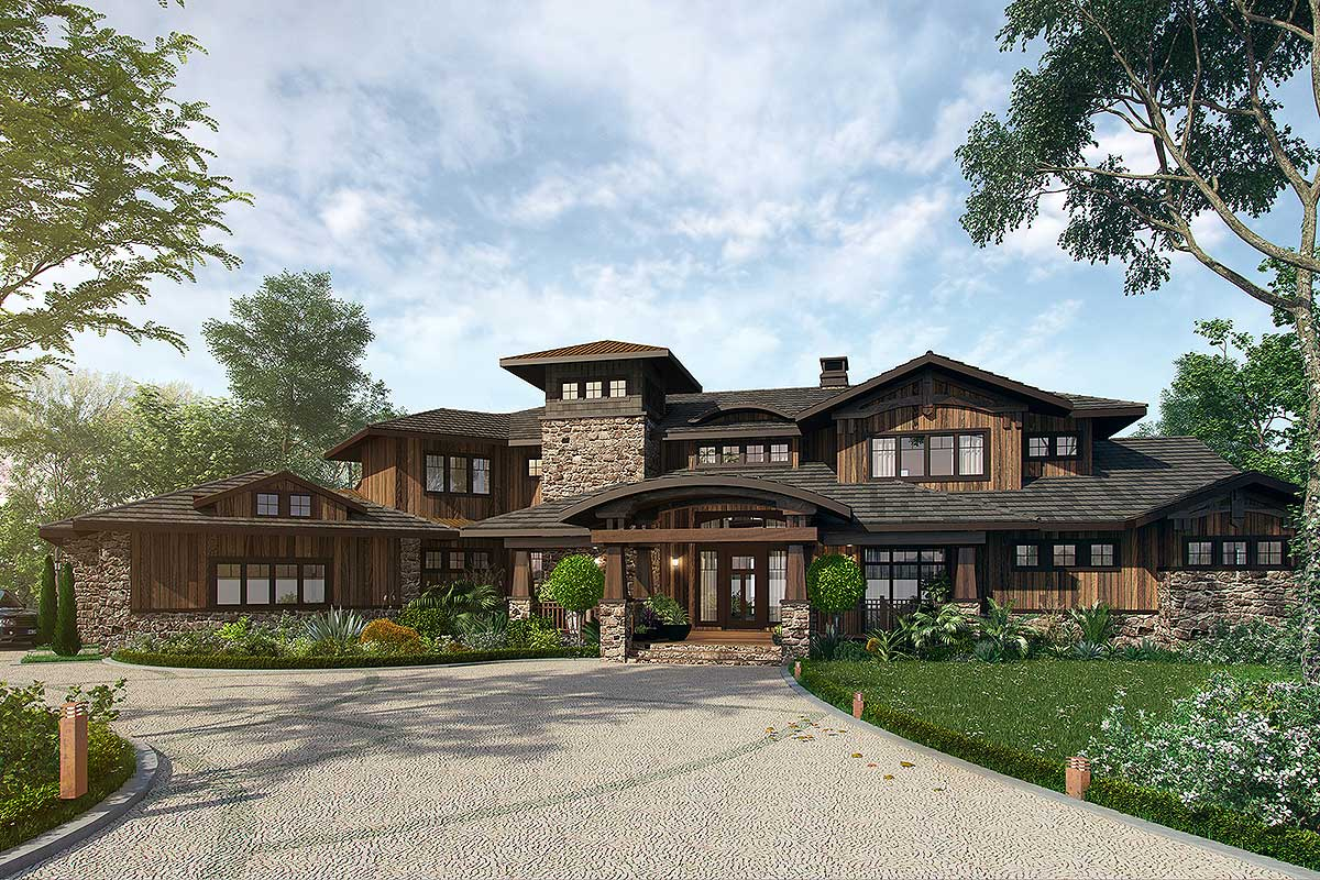 Mountain Lodge House Plans