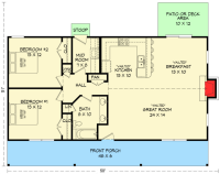 Ranch House Plan with Vaulted Ceilings - 68419VR ...