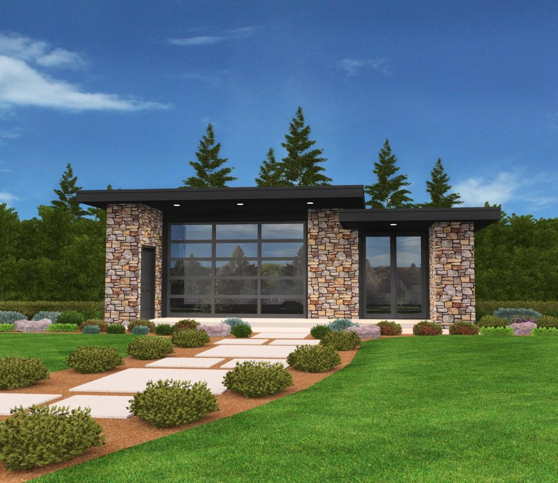 Exclusive Micro Modern House Plan Open Floor Plan ...