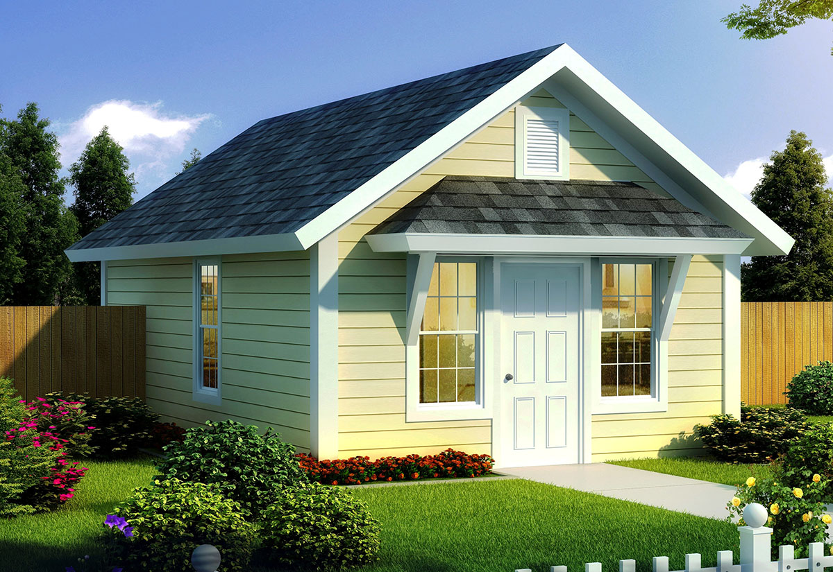 Compact Tiny Cottage 52283wm Architectural Designs