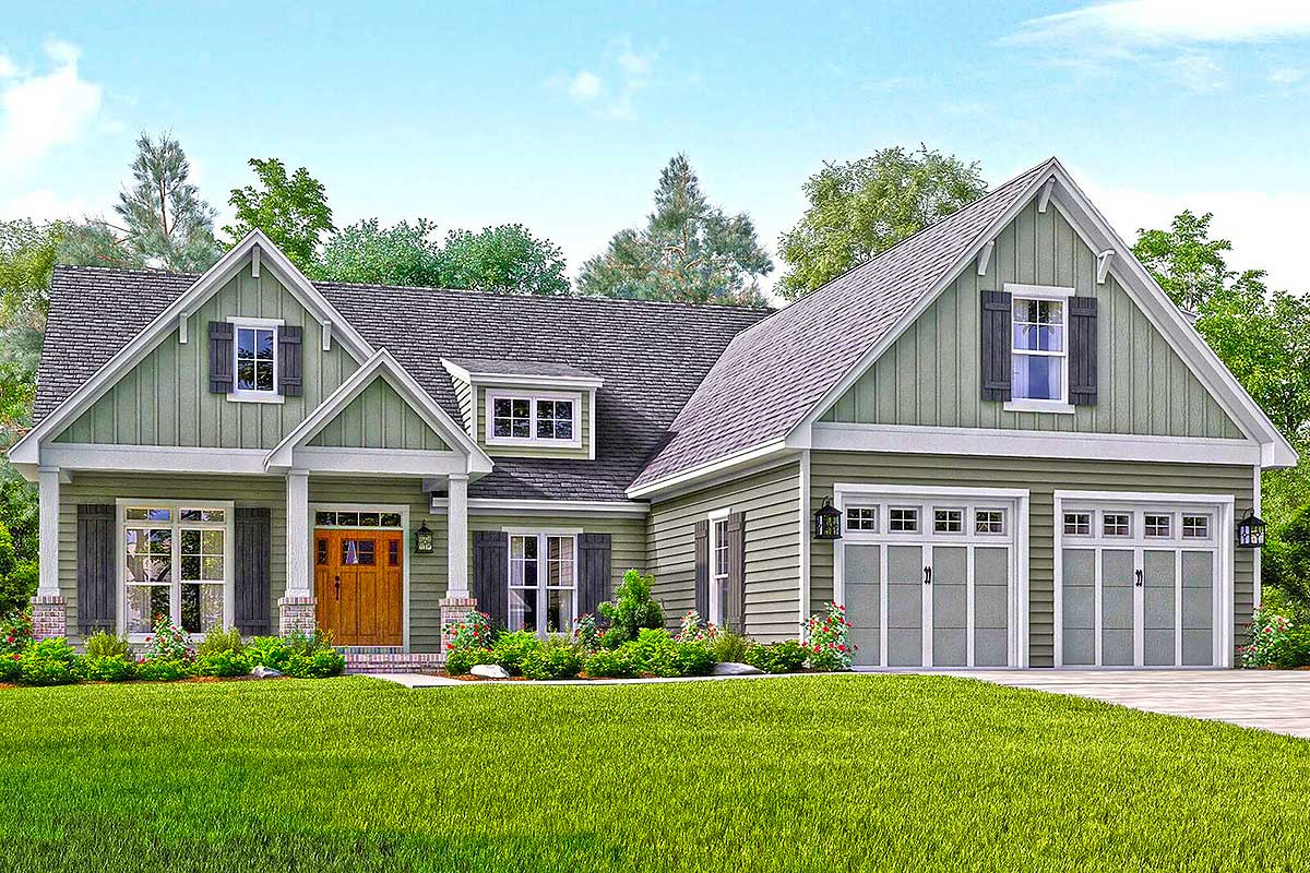 Appointed Craftsman House Plan - 51738hz