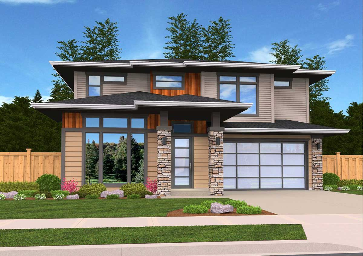 Exclusive Contemporary House Plan 85139ms