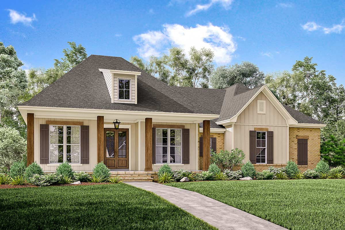 Acadian House Plans Front Garage